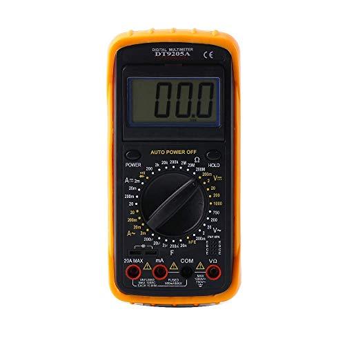 Wenquan,Universal DT9205A Digital Multimeter Wechselstrom-Voltmeter-Tester(Color:SCHWARZ UND ORANGE)