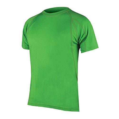 Endura baabaa Merino a maniche corte base layer–Naturale strato isolante, verde, M verde