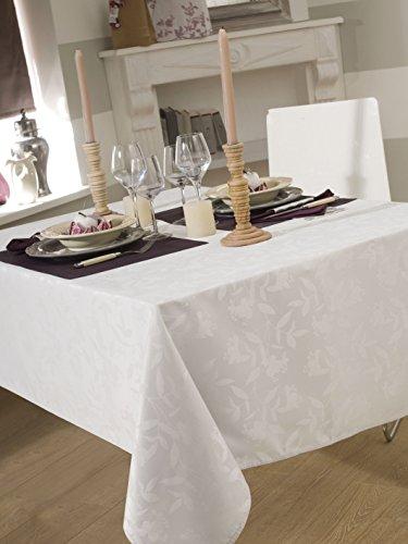 CALITEX Nappe DAMASSEE Ombra Blanc Ovale 180x240