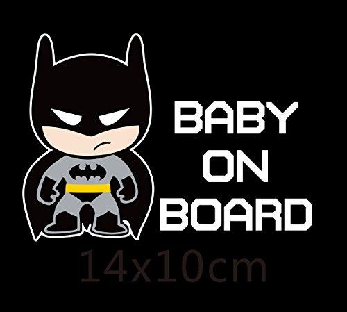 SPA 03 : Superheroes Baby On Board Reflective Car Decoration Car Stickers And Decals for Volkswagen Golf Skoda Honda Hyundai Kia Lada