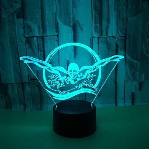 Optische Täuschung 3D Schwimmen Nacht Licht 7 Farben Andern Sich USB Adapter Touch Schalter Dekor Lampe LED Lampe Tisch Kinder Brithday weihnachten Geschenk