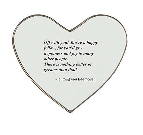 Heartshaped fridge magnet with Off with you! You're a happy fellow, for you'll give happiness and joy to many other people. There is nothing better or greater than that!