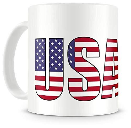 Samunshi USA Schriftzug Tasse Kaffeetasse Teetasse