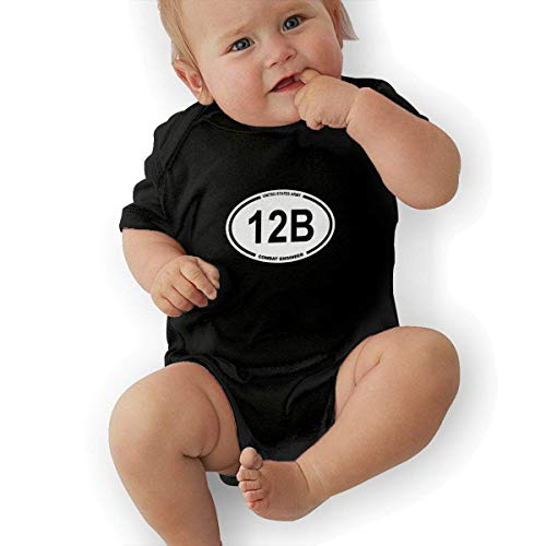 Babybekleidung Jungen Mädchen T-Shirts, Us Army Mos 12b Combat Baby Newborn Cotton Short-Sleeve Bodysuit for Boys and Girls Mos-overall