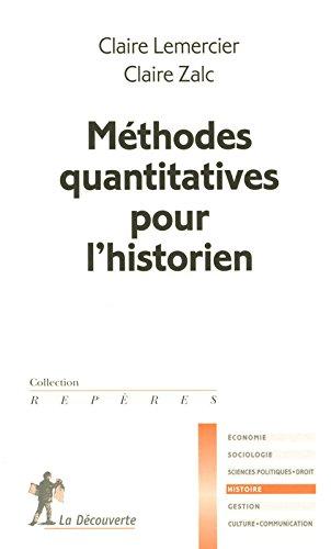 Méthodes quantitatives pour l'historien par Claire LEMERCIER