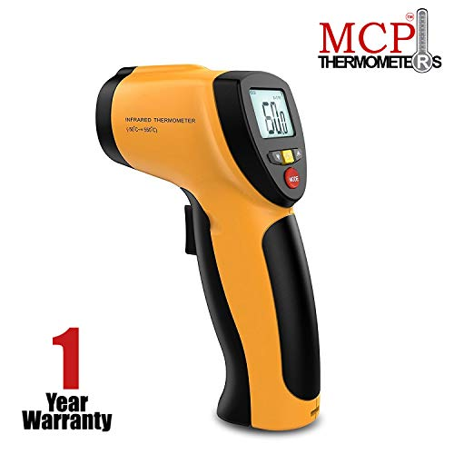 MCP Non-contact Digital Laser Infrared Thermometer with Back Light LCD Display ( Temperature Range: -50°C to 550°C)