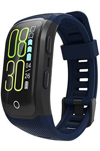 GPS Armbanduhr Fitness Tracker Farbbildschirm IP68 Wasserdicht Schwimmen Outdoor Aktivitätstracker Herzfrequenz 6 Sportarten Deutsche Bediennungsanleitung