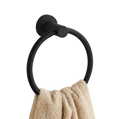 CASEWIND Amerikanisch Handtuchring Scharz Handtuchhalter, Rund Boden