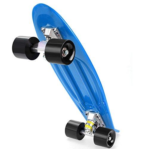 Kinder Mini-Cruiser-Skateboard, 57cm Retro Penny-Stil Board für Jungen Mädchen Kinder ab 5 Jahre