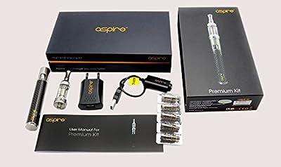Aspire Premium Kit / Edelstahl Karbon / Komplettes e-Zigaretten Starter-Set von Aspire