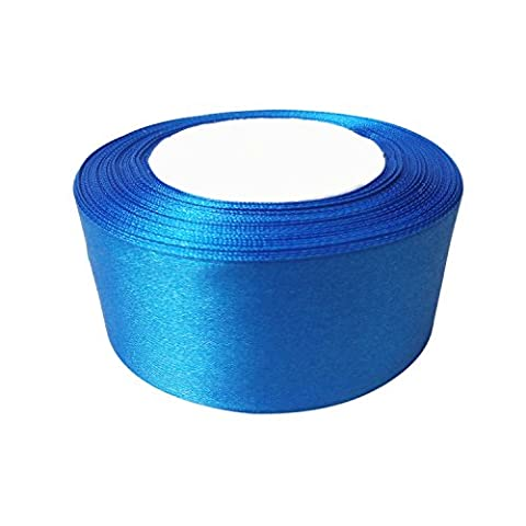 25mm x 22m Royal Blue Double Sided Satin Ribbon Roll - Reel of Polyester Fabric for Sewing, Arts and Crafts, Bows, Dresses, Gift Wrapping - Decoration for Wedding, Birthday, Clothing by Wedding
