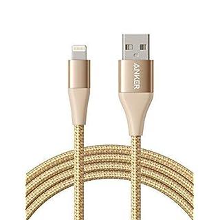 Anker Powerline+ II Lightning Kabel 1,8m iPhone Kabel Nylon, MFi Zertifiziert kompatibel mit dem iPhone XS/XS Max/XR/X / 8/8 Plus / 7/7 Plus/iPad und mehr (Gold)