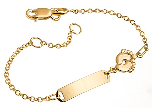Silberketten-Store Kinder/Baby Gravur-Armband, 333 Gold, inkl. Gravur, Länge 12cm