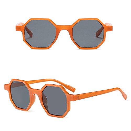 Manyo Sonnenbrille, sechseckig, Vintage, kleine Gläser, Geometric Resin Frame Clear Lenses Sonnenbrille