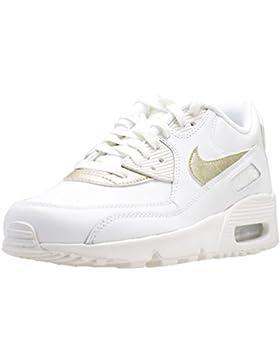 Nike Air Max 90 LTR (GS), Zapatillas de Gimnasia para Niñas, Blanco (Summit White/Mtlc Gold Star 103), 36.5 EU