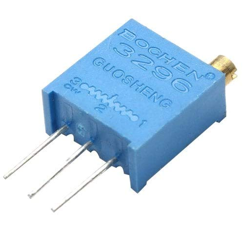 5 Pack Blue Led (ExcLent 3296W Multiturn Trimmer Potentiometer Kit High Precision 3296 Variable Resistor-Blue Ivy)