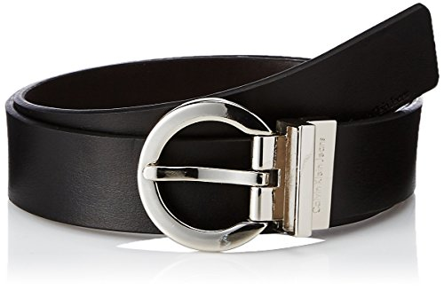 Calvin Klein Women's Reversible Belt,Black/ Brown,Small