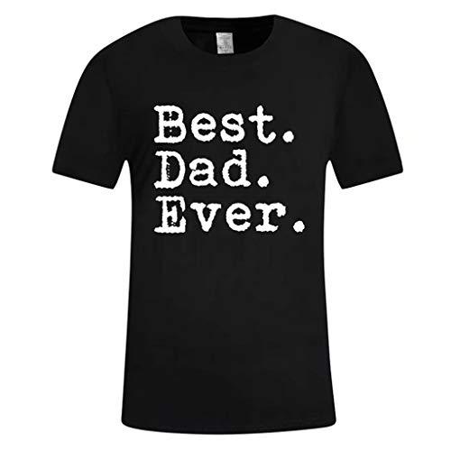 Crazboy Das zufällige gedruckte Hemdvati-Hemdgeschenk der Männer Elternteilkindnahes Hemdhemd(X-Large,Schwarz-F)