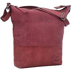 Handtasche Leder Gusti Studio Zahara Damentasche Rot