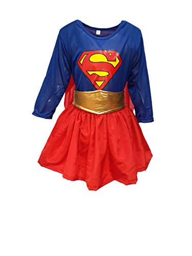 KFD Super Girl fancy dress for kids,Super Hero Costume for annual function/theme Party/Competition/Stage Shows/Birthday Party Dress