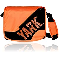 Yark Women's Messenger Bag Black & Orange Y2101Blackorange