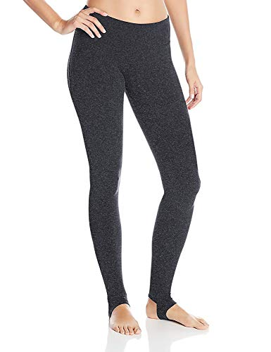 DeepTwist Yogahose Trainings Gamaschen Workout Steigbügel Sports Hosen Lang Casual Pants Active Full-Length Leggings für Damen, UK-DT4006-Dark Grey-8 -