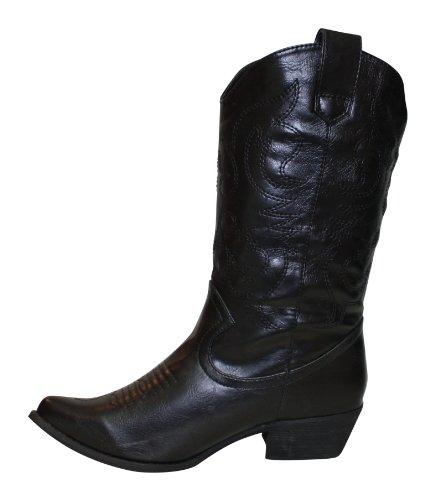 Bottes santiags western modèle Arizona petites tailles Noir