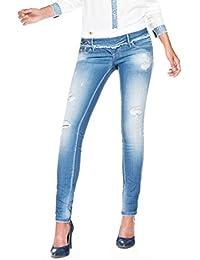 Salsa - Pantalon en jean Push Up Wonder avec détail vintage et taille double - Femme