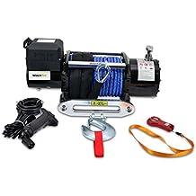 Cabrestante Electrico 12v 7700Kg Winch Cabestrante 17000Lbs Para Grúa, 4x4, Todoterreno Y Camión