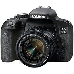 Canon EOS 800D Reflex numérique + EF-S 18-55mm F/4-5.6 IS STM - Noir
