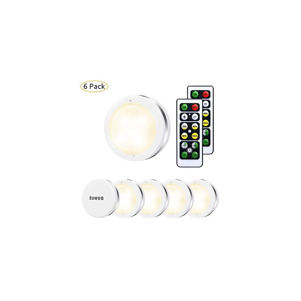 Lampe de Placard Spot LED Murale Coloré Bawoo 6pcs Lampes