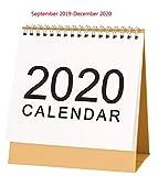 2019-2020 1 mois par page anglais Stand Alone Desk Bureau Table Calendrier,Academic Mid-year Planning Année ou à l'école,commence 1st - Septembre 2019 tourne 'til Décembre 2020,design floral par Arpan...