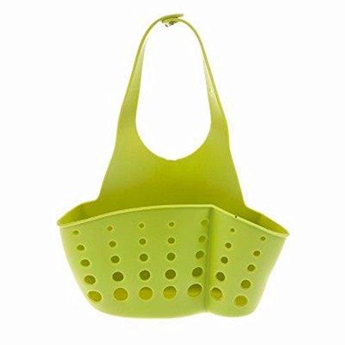 【 zum Aufhängen Storage Rack Organizer 】 3Farben, 1Stück Kunststoff Ablauf Halter Spüle korb Badezimmer Küche platzsparend Aufhängen Storage Rack Organizer. Normal grün