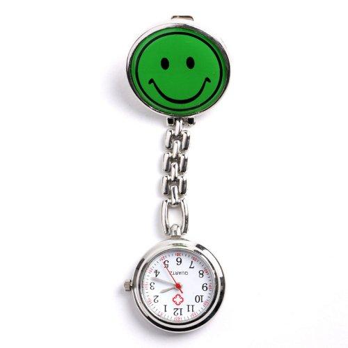 YESURPRISE Neu Grn Taschenuhr Schwesternuhr Krankenschwester Uhr lcheln Stil Geschenk Xmas Gift pocket watch