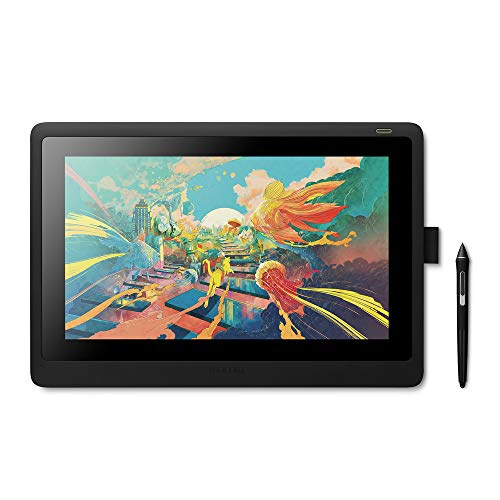WACOM Cintiq 16 Monitor Interactivo y bolígrafo Wacom Pen Pro 2 - Pantalla LCD de 16' para diseño digital - Resolución Full HD - Compatible con Windows y OS - Negro