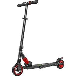 E Scooter Tret-Roller, CityRoller Elektrischer Roller Klappbar mit 12km Langstrecken Akku, bis zu 23km/h, Einfach zu Falten und zu Tragen E-Roller für Erwachsene Jugendliche und Kinder (Rot)