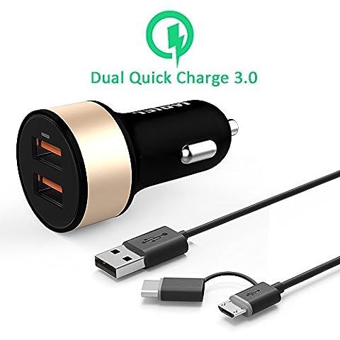 iVoler Quick Charge 3.0 Chargeur de Voiture 36W 2 Ports