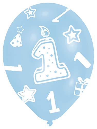 Amscan 27.5 cm  1. Geburtstag, 6 Luftballons, Blau (Die Für 8-9-jährigen Halloween-party-spiele)