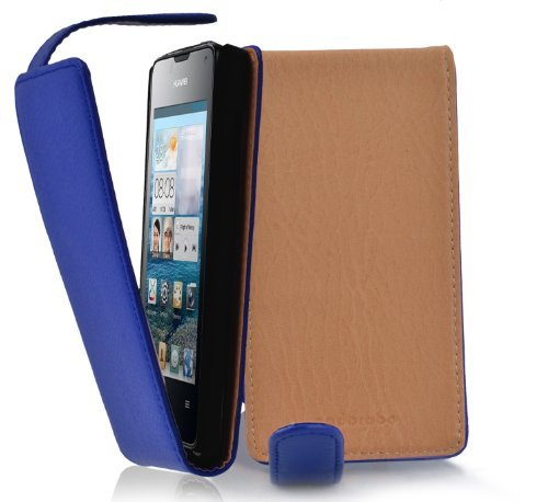 cadorabo-custodia-flip-style-design-per-huawei-ascend-y300-etui-case-cover-involucro-bumper-in-blu-m