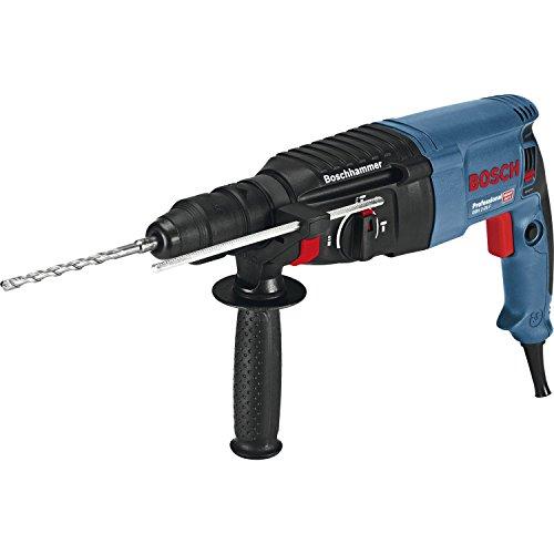 Bosch Professional Bohrhammer GBH 2-26 F (Wechselfutter SDS-plus, Schnellspannbohrfutter, Tiefenanschlag, Koffer, Bohr-Ø in Beton mit Hammerbohrern: 4 - 26 mm, Schlagenergie max.: 2,7 J, 830 Watt)