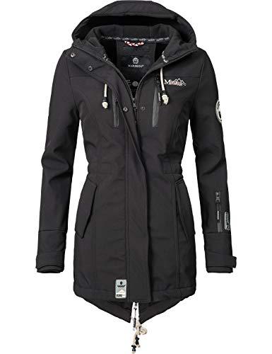 Marikoo Damen Softshell-Jacke Outdoorjacke Zimtzicke Schwarz Gr. S