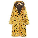 TAMALLU Sweater Jacke für Damen Modische 2019 Warm Strick Mantel mit Lange Ärmel(Gelb,L)