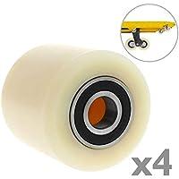 PrimeMatik - Rueda para transpaleta Rodillo de Nailon de 80x70 mm 700 Kg 4-Pack