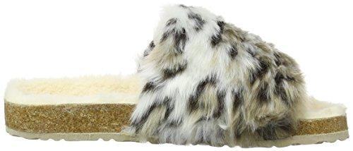 Dunlop Ambre, Pantofole Donna Multicolore (Snow Leopard)