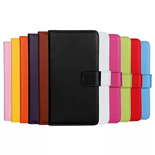"""smartec24® iPhone 6 (4.7"""") Flipcase im Brieftaschenformat inkl. 1x Displayschutzfolie mit Karten- und Bargeldfächern (schwarz) rosa"""