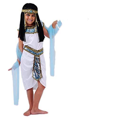Cleopatra Kinder Mädchen Kostüm - thematys Cleopatra Aphrodite Göttin Kostüm-Set für Kinder - perfekt für Fasching, Karneval & Cosplay - Verschiedene Größen (XL)