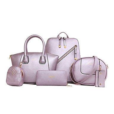 La donna pu formale / Casual / Ufficio & Carriera / Shopping Zaino / Set borsa rosa / blu / giallo / nero,giallo Blushing Pink