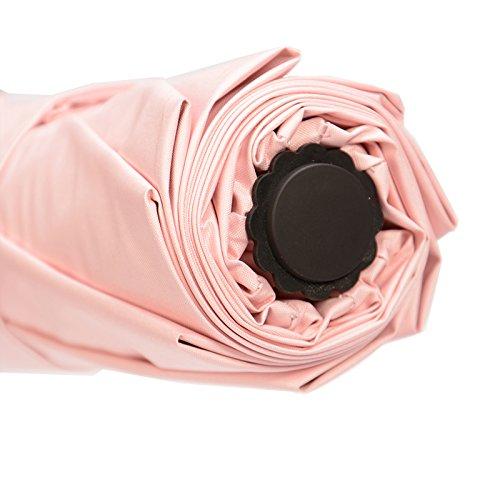 Shirleyle Sonnen-/Regenschirm, kompakt, mit UV-Schutz, Sonnenschutz, Sonnenschirm, für Damen