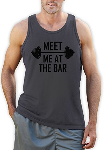 Meet me at the Bar Dark Gray XX-Large Vest Singlet