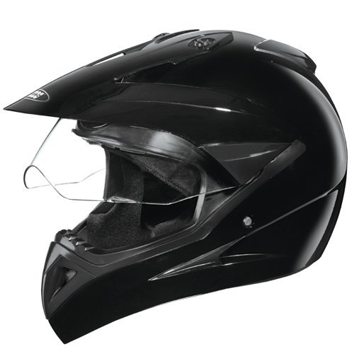 Studds Motocross Helmet with Visor (Black, M)